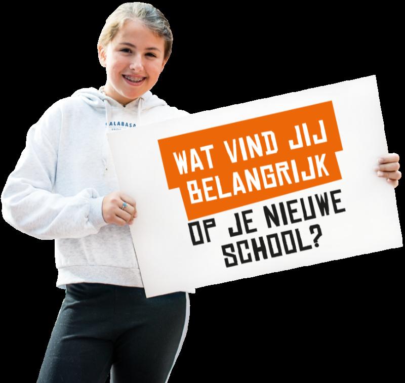 Wat vind jij belangrijk op je nieuwe school?